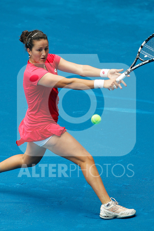 Spanish Lara Arruabarrena during Mutua Madrid Open 2012 match on may 6th 2012...Photo: Cesar Cebolla / ALFAQUI