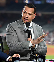 HOUSTON - OCTOBER 23: Alex Rodriguez at World Series Game 2: Washington Nationals at Houston Astros on Fox Sports at Minute Maid Park on October 23, 2019 in Houston, Texas. (Photo by Frank Micelotta/Fox Sports/PictureGroup)