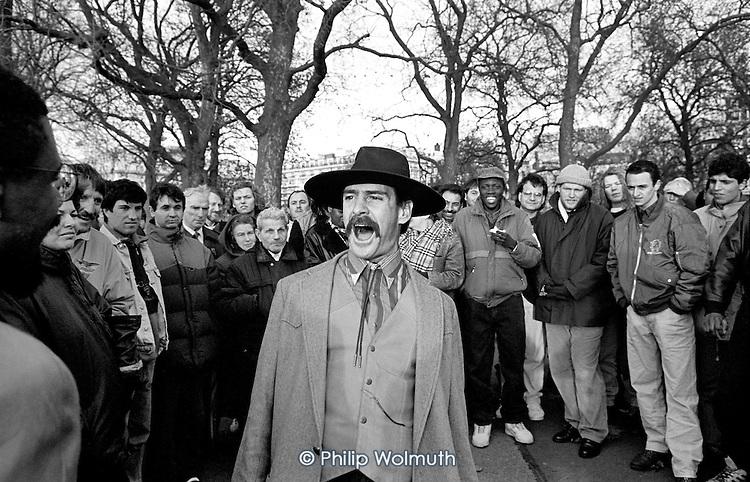 American Christian evangelist, Speakers' Corner, Hyde Park, London