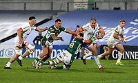 Friday 2nd October 2020 | Ulster Rugby vs Benetton Rugby<br /> <br /> Jacob Stockdale on the attack during the PRO14 Round 1 clash between Ulster Rugby and Benetton Rugby at Kingspan Stadium, Ravenhill Park, Belfast, Northern Ireland. Photo by John Dickson / Dicksondigital