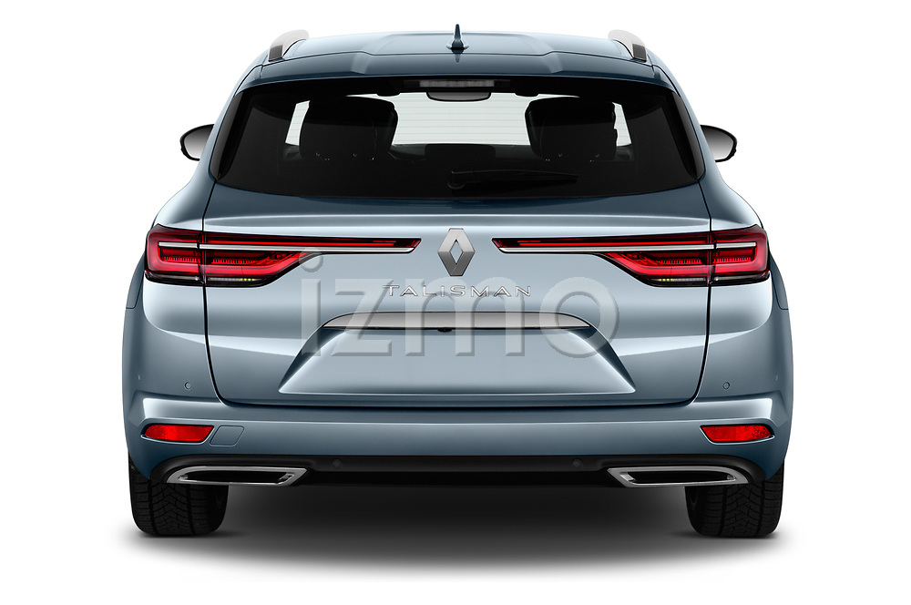 Straight rear view of 2021 Renault Talisman-Grandtour Initiale-Paris 5 Door Wagon Rear View  stock images
