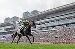 SHA TIN,HONG KONG-DECEMBER 11: Satono Crown #4,ridden by Joao Moreira (outside),wins the Hong Kong Vase at Sha Tin Racecourse on December 11,2016 in Sha Tin,New Territories,Hong Kong (Photo by Kaz Ishida/Eclipse Sportswire/Getty Images)