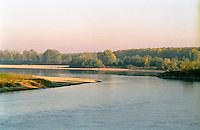 Castelnuovo Bocca d'Adda (Lodi), località Brevia. Confluenza del fiume Adda nel Po --- Castelnuovo Bocca d'Adda (Lodi). The confluence of the river Adda in the Po