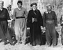 Iraq 1961.In Penjwin, first left, Mohamed Rachid Khan, third left, Reza Sheikh Kerim, 4th, Sheikh Abdel Kader Tchvessa, first right, Sheikh Latif Sheikh Hussein