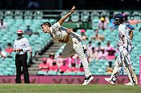9th January 2021; Sydney Cricket Ground, Sydney, New South Wales, Australia; International Test Cricket, Third Test Day Three, Australia versus India; Pat Cummins of Australia bowling