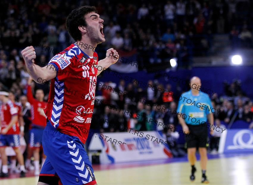 Petar Nenadic of Serbia reacts during men`s EHF EURO 2012 handball championship final game between Serbia and Denmark in Belgrade, Serbia, Sunday, January 29, 2011.  (photo: Pedja Milosavljevic / thepedja@gmail.com / +381641260959)