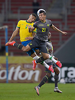 4th June 2021; Beira-Rio Stadium, Porto Alegre, Brazil; World Cup 2022 qualifiers; Brazil versus Ecuador; Richarlison of Brazil and Alan Franco of Ecuador