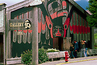 The Eagle Aerie Gallery (Artist Roy Henry Vickers) in Tofino, on Vancouver Island, British Columbia, Canada (No Model or Property Release)