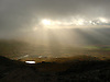 View from the Watkins Path up on Snowdon. Dramatic light forever changing the view.<br /> <br /> Stock Photo by Paddy Bergin