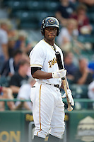 Bradenton Marauders Mel Rojas Jr #3 during a Florida State League game against the Tampa Yankees at McKechnie Field on July 19, 2012 in Bradenton, Florida.  Bradenton defeated Tampa 4-3.  (Mike Janes/Four Seam Images)