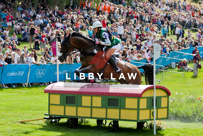 AUS-Lucinda Fredericks (FLYING FINISH) 2012 LONDON OLYMPICS (Monday 30 July 2012) EVENTING CROSS COUNTRY: INTERIM-43RD
