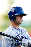 Cory Riordan (22) of the Tulsa Drillers on deck during a game against the Springfield Cardinals at Hammons Field on July 20, 2011 in Springfield, Missouri. Springfield defeated Tulsa 12-1. (David Welker / Four Seam Images)