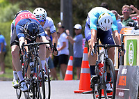 Matt Gibson (JLT Condor, left) wins Stage Three of the 2018 NZ Cycle Classic UCI Oceania Tour (Masterton to Martinborough) in Wairarapa, New Zealand on Friday, 19 January 2018. Photo: Dave Lintott / lintottphoto.co.nz