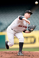 Texas Tech Red Raider starting pitcher Chad Bettis against TCU on Friday March 5th, 2100 at the Astros College Classic in Houston's Minute Maid Park.  (Photo by Andrew Woolley / Four Seam Images)