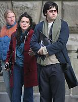 LINDSAY LOHEN AND JARED LETO<br /> FILMING OF ''CHAPTER 27'' STORY OF MARK DAVID CHAPMEN  THE KILLER OF JOHN LENNON  AT WEST 72 ST CENTRAL PARK WEST 01-20-06<br /> Photo By John Barrett/PHOTOlink