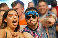 Pictured: Fans of Jorja Smith in the crowd. Saturday 26 May 2018<br /> Re: BBC Radio 1 Biggest Weekend at Singleton Park in Swansea, Wales, UK.