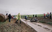 moto crash (as there were many...)<br /> <br /> 118th Paris-Roubaix 2021 (1.UWT)<br /> One day race from Compiègne to Roubaix (FRA) (257.7km)<br /> <br /> ©kramon