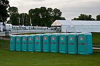 """""""FEATURE: Porta-Potty's"""" these are usually popping up right in the line of my """"wanted-shot"""" - however, these ones are placed very stratigically below the line of sight from the main arena! 2012 GBR-Bramham International Horse Trial: Wednesday Set Up and a quick look around the grounds..."""