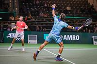 Rotterdam, The Netherlands, 11 Februari 2019, ABNAMRO World Tennis Tournament, Ahoy, first round doubles:  Austin Krajicek (USA) - Artem Sitak (NZL) (R)<br /> Photo: www.tennisimages.com/Henk Koster