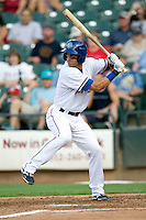 Round Rock Express second baseman Matt Kata #15 at bat during a game against the Memphis Redbirds at the Dell Diamond on July 7, 2011in Round Rock, Texas.  Round Rock defeated Memphis 6-4.  (Andrew Woolley / Four Seam Images)