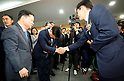 South Korea's new Justice Minister Cho Kuk at his inauguration ceremony in Gwacheon