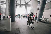 Italian road champion Fabio Arru (ITA/Astana) entering the Orange Vélodrome for the start of his recon although his not the national TT champion...<br /> <br /> 104th Tour de France 2017<br /> Stage 20 (ITT) - Marseille › Marseille (23km)