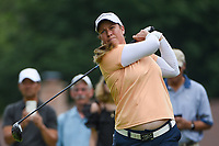 16th July 2021, Midland, MI, USA;  Brittany Lincicome (USA) watches her tee shot on 3 during the Dow Great Lakes Bay Invitational Rd3 at Midland Country Club on July 16, 2021 in Midland, Michigan.