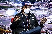 23rd September 2021; Sochi, Russia;   F1 Grand Prix of Russia 14 Fernando Alonso ESP, Alpine F1 Team, F1 Grand Prix of Russia at Sochi Autodrom   driver press conference