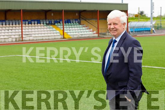 John O'Regan, Secretary of the Kerry District Soccer league standing in Mounthawk Park on Tuesday