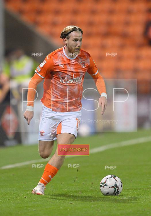 24/08/2021 Carabao Cup 2nd Round Blackpool v Sunderland <br /> <br /> Josh Bowler, Blackpool FC
