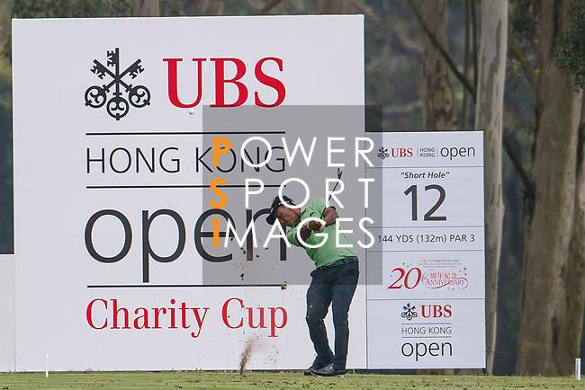 Thongchai Jaidee of Thailand tees off during the day three of UBS Hong Kong Open 2017 at the Hong Kong Golf Club on 25 November 2017, in Hong Kong, Hong Kong. Photo by Marcio Rodrigo Machado / Power Sport Images