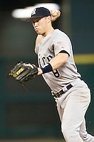 Rice Owl Michael Ratteree #8 against the Texas Tech Red Raiders on Saturday March 6th, 2100 at the Astros College Classic in Houston's Minute Maid Park.  (Photo by Andrew Woolley / Four Seam Images)