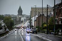 bad weather conditions at the race start in Bastogne<br /> <br /> 4th Liège-Bastogne-Liège-Femmes 2020 (1.WWT)<br /> 1 Day Race: Bastogne – Liège 135km<br /> <br /> ©kramon