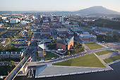 Chattanooga downtown and riverfront along Tennessee River