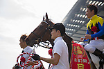 TOKYO,JAPAN-MAY 29: Makahiki,ridden by Yuga Kawada,wins the Japanese Derby at Tokyo Racecourse on May 29,2016 in Fuchu,Tokyo,Japan (Photo by Kaz Ishida/Eclipse Sportswire/Getty Images)