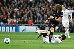 Real Madrid´s Isco (R) and Paris Saint-Germain´s David Luiz during Champions League soccer match between Real Madrid  and Paris Saint Germain at Santiago Bernabeu stadium in Madrid, Spain. November 03, 2015. (ALTERPHOTOS/Victor Blanco)
