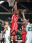 Arkansas State Red Wolves forward Sherina Scott (22) in action during the NCAA Women's basketball game between the Arkansas State Red Wolves and the University of North Texas Mean Green at the North Texas Coliseum,the Super Pit, in Denton, Texas. Arkansas State defeated UNT 62 to 59