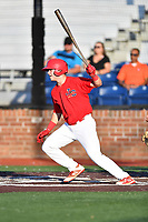 Johnson City Cardinals Mateo Gil (23) swings at a pitch during game one of the Appalachian League Championship Series against the Burlington Royals at TVA Credit Union Ballpark on September 2, 2019 in Johnson City, Tennessee. The Royals defeated the Cardinals 9-2 to take the series lead 1-0. (Tony Farlow/Four Seam Images)