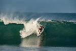 Brazilian surfer Yago Dora rides a wave at Puerto Escondido's Zicatela Beach in Mexico. Photo by Victor Fraile / Power Sport Images
