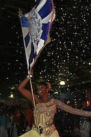 SAO PAULO, SP, 09 DE DEZEMBRO DE 2011, Jussara, porta bandeira da Acadêmicos do Tatuapé, no LANÇAMENTO DO CD DA LIGA DAS ESCOLAS DE SAMBA 2012 na quadra da Escola de Samba Rosas de Ouro, zona norte de SP.  (FOTO: MILENE CARDOSO / NEWS FREE)