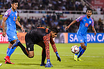 Goalkeeper Gurpreet Singh Sandhu of India (C) gets tripped during the AFC Asian Cup UAE 2019 Group A match between India (IND) and Bahrain (BHR) at Sharjah Stadium on 14 January 2019 in Sharjah, United Arab Emirates. Photo by Marcio Rodrigo Machado / Power Sport Images
