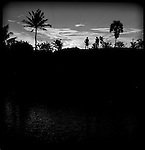 A sunset in a balinese village.