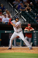 Syracuse Chiefs designated hitter Chris Dominguez (17) bats during a game against the Buffalo Bisons on July 6, 2018 at Coca-Cola Field in Buffalo, New York.  Buffalo defeated Syracuse 6-4.  (Mike Janes/Four Seam Images)