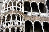 Dettaglio del Palazzo Contarini del Bovolo, con la sua scala a chiocciola, a Venezia.<br /> Detail of the Palazzo Contarini del Bovolo and its spiral staircase, in Venice.<br /> UPDATE IMAGES PRESS/Riccardo De Luca