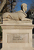 "One of the four Sphinxes (known as ""The lions of the Borne"", 1833, stone of Santanyi) by Jacint Mateu, Paseo del Borne<br /> <br /> Una de las cuadro esfinges (conocidas como ""Las Leonas del Borne"", 1833, marés de Santanyì) de Jacint Mateu, en el Paseo del Borne<br /> <br /> Eine der vier Sphinxen (bekannt als ""Las Leonas del Borne"", 1833, Stein aus Santanyi) von Jacint Mateu am Paseo del Borne<br /> <br /> 3008 x 2000 px<br /> 150 dpi: 50,94 x 33,87 cm<br /> 300 dpi: 25,47 x 16,93 cm"