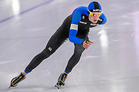 28th December 2020; Thialf Ice Stadium, Heerenveen, Netherlands; World Championship Speed Skating; 10000m men, Beau Snellink during the WKKT
