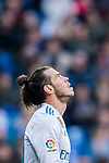Gareth Bale of Real Madrid reacts during the La Liga 2017-18 match between Real Madrid and Deportivo Alaves at Santiago Bernabeu Stadium on February 24 2018 in Madrid, Spain. Photo by Diego Souto / Power Sport Images