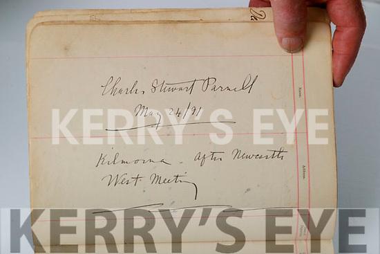 Charles Stuart Parnell signature in the Kilmorna house visitors book