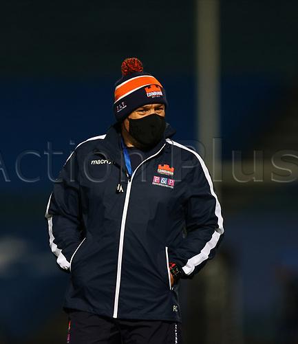16th November 2020; RDS Arena, Dublin, Leinster, Ireland; Guinness Pro 14 Rugby, Leinster versus Edinburgh; Edinburgh head coach Richard Cockerill watches as the players warm up