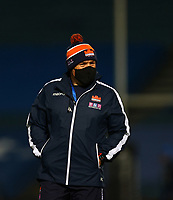 16th November 2020; RDS Arena, Dublin, Leinster, Ireland; Guinness Pro 14 Rugby, Leinster versus Edinburgh; Edinburgh head coach Richard Cockerill watches as the players warm up